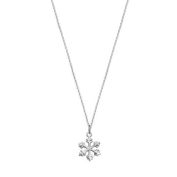 Minimal snowflake necklace