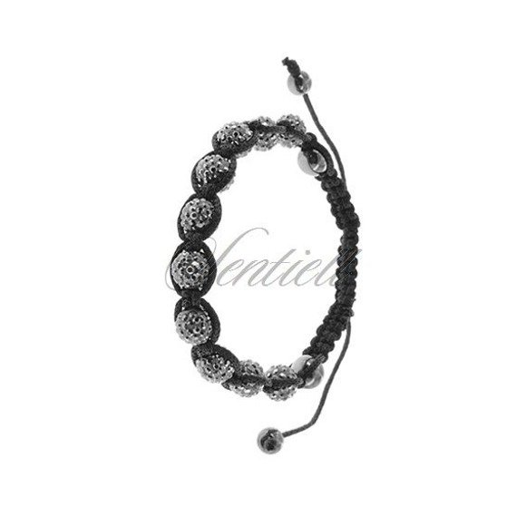 Rope bracelet (925) metallic grey and hematite
