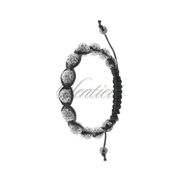 Rope bracelet (925) white and hematite