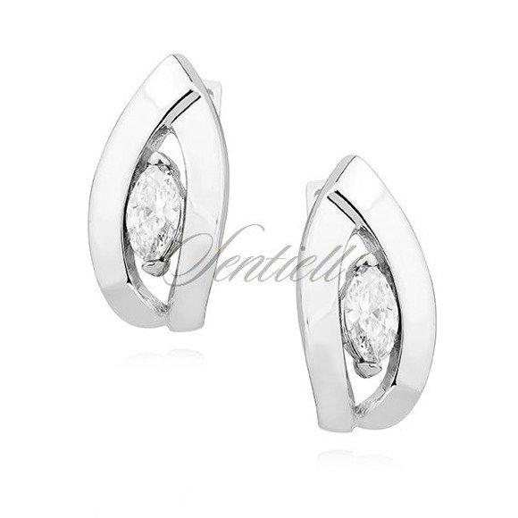 Silver (925) Earrings white zirconia