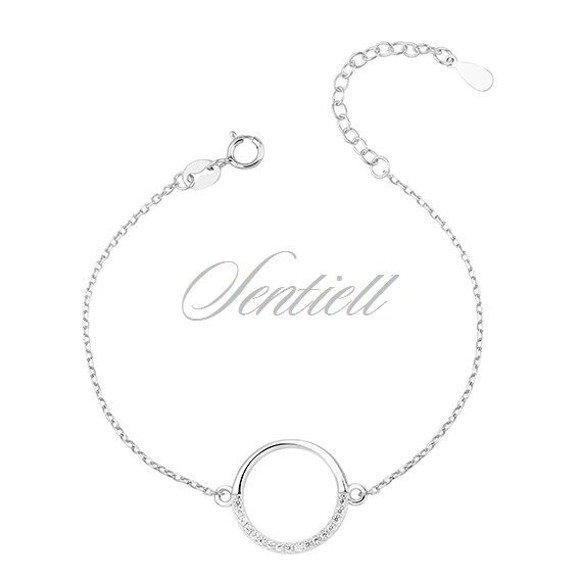 Silver (925) bracelet - cirlce with zirconia