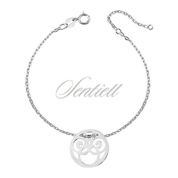 Silver (925) bracelet - openwork circle