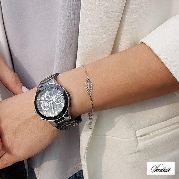 Silver (925) bracelet with leafs