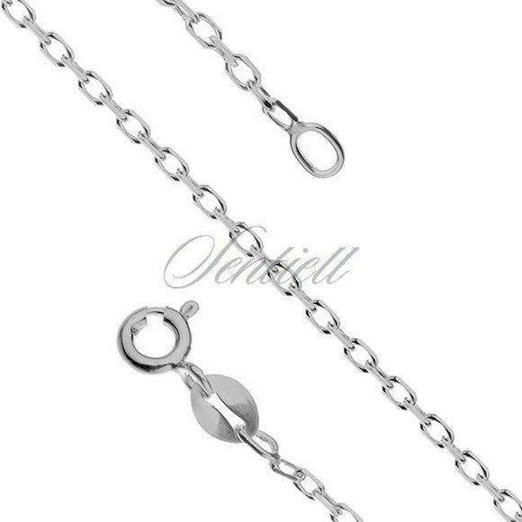 Silver (925) chain Rolo diamond cut, rhodium-plated