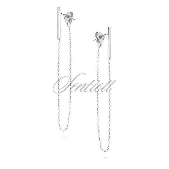 Silver (925) earrings with chain