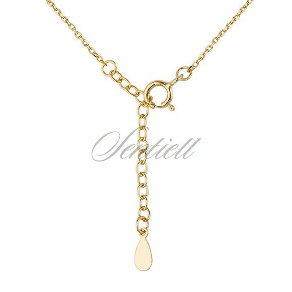 Silver (925) gold-plated necklace - stars with zirconia