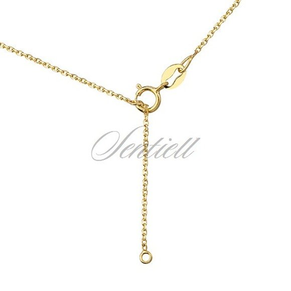 Silver (925) lariat necklace with leafs pendants, gold-plated