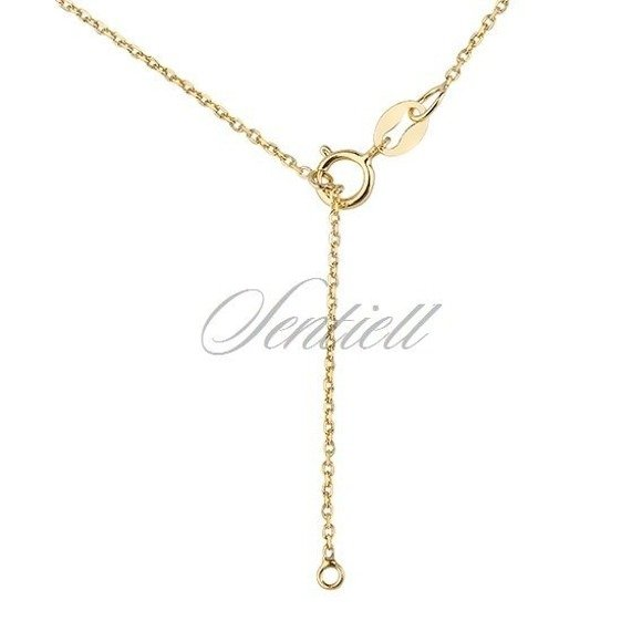 Silver (925) necklace - gold-plated circles
