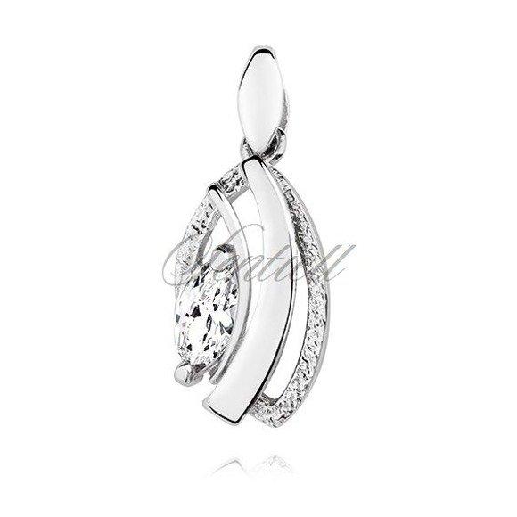 Silver (925) pendant with white zirconia