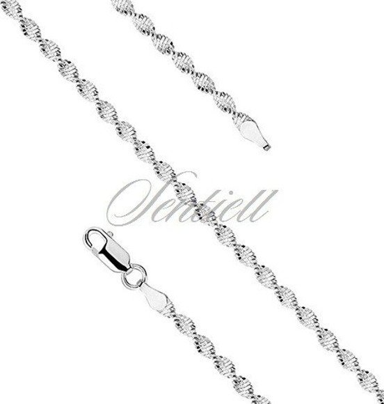 Silver (925) twisted chain bracelet Ø 035 weight from 3,0g