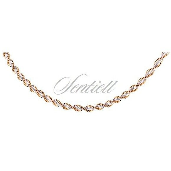 Silver (925) twisted chain necklace Ø 035