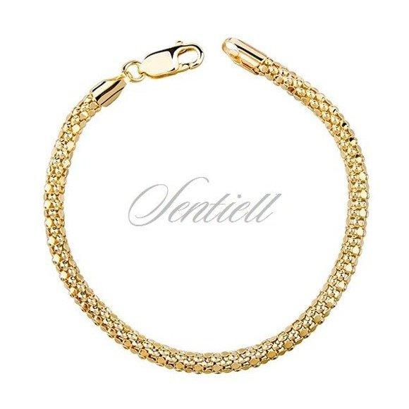 Silver bracelet (925) Coreana gold plated