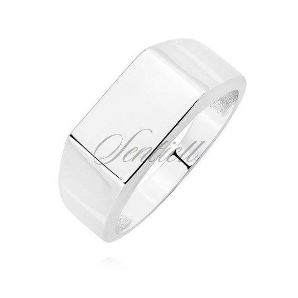 Silver signet ring 925