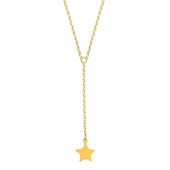 Star necklace 925 gold-plated