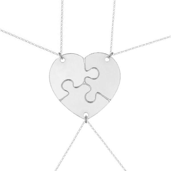 4e639cef08c1a7 Kliknij, aby powiększyć · Naszyjnik srebrny serce z puzzli srebro 925  komplet srebrnych ...