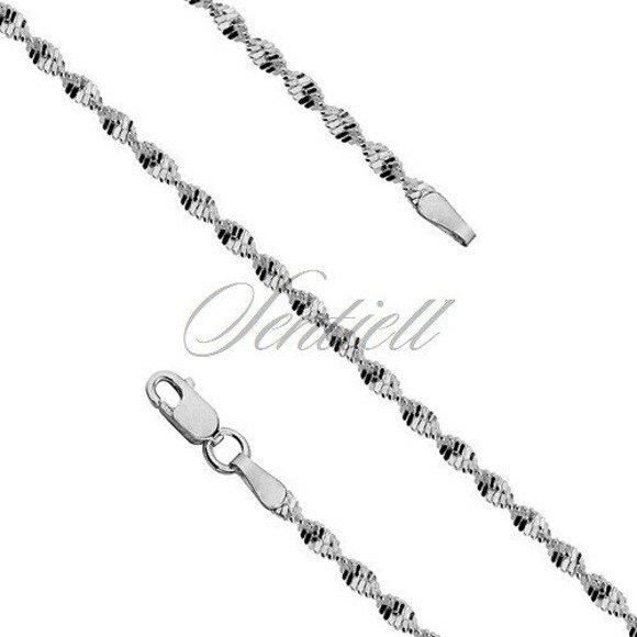 Bransoletka ozdobna srebrna pr. 925 taśma skręcana Ø 030 waga od 2,1g