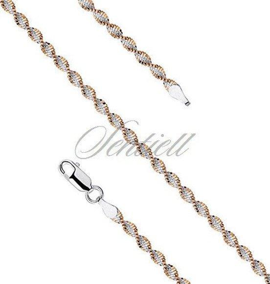 Bransoletka ozdobna srebrno-złota pr. 925 taśma skręcana Ø 035 waga od 2,7g