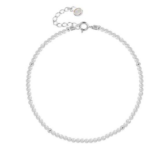 Bransoletka srebrna z naturalnego kamienia księżycowego