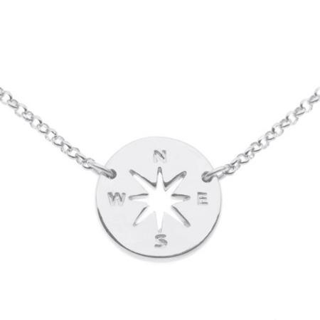 Compass - Róża Wiatrów srebrny naszyjnik