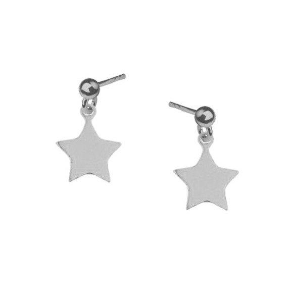 Gwiazdki kolczyki sztyfty srebrne