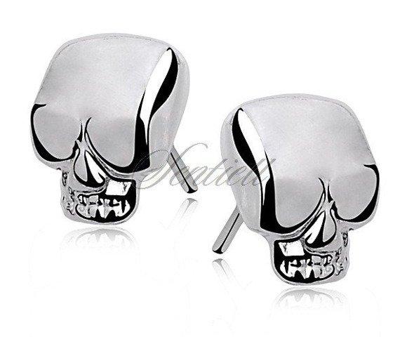 Kolczyki srebrne pr. 925 czaszki