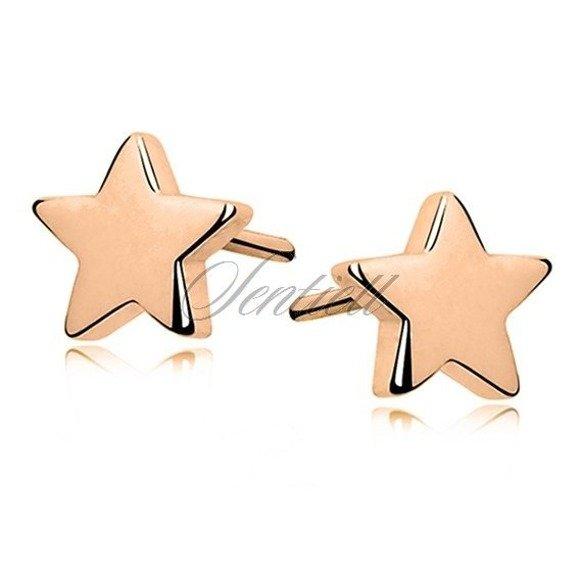 Kolczyki srebrne pr. 925 gwiazdki pozłacane