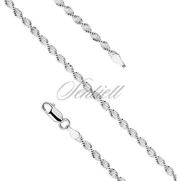 Łańcuszek ozdobny srebrny pr. 925 taśma skręcana Ø 035