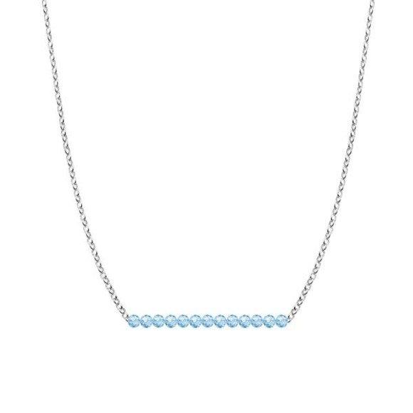 MARZEC - naszyjnik srebrny z akwamarynem