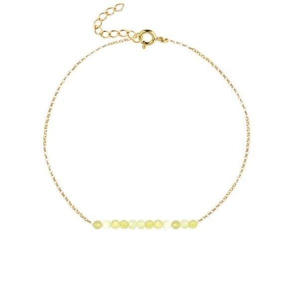 PAŹDZIERNIK- bransoletka pozłacana z żółtym opalem