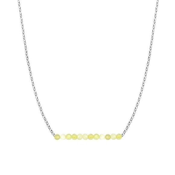 PAŻDZIERNIK - naszyjnik srebrny z żółtym opalem