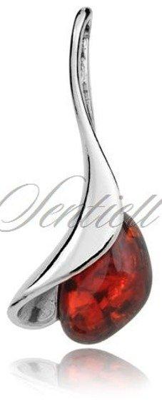 Srebrna zawieszka pr.925 Czerwony Opal dzwonek