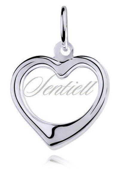 Srebrna zawieszka pr.925 w kształcie serca
