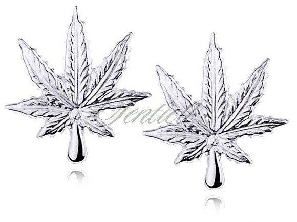 Srebrne kolczyki pr.925 marihuana