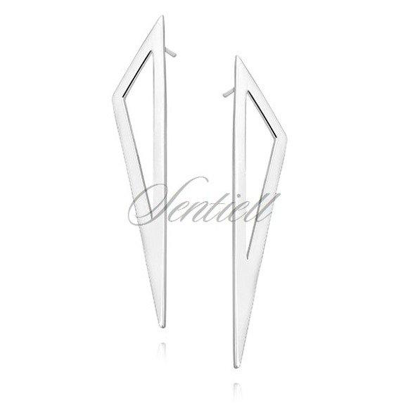 Srebrne kolczyki pr.925 trójkąty