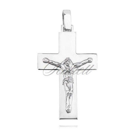 Srebrny męski bardzo duży krzyżyk pr.925