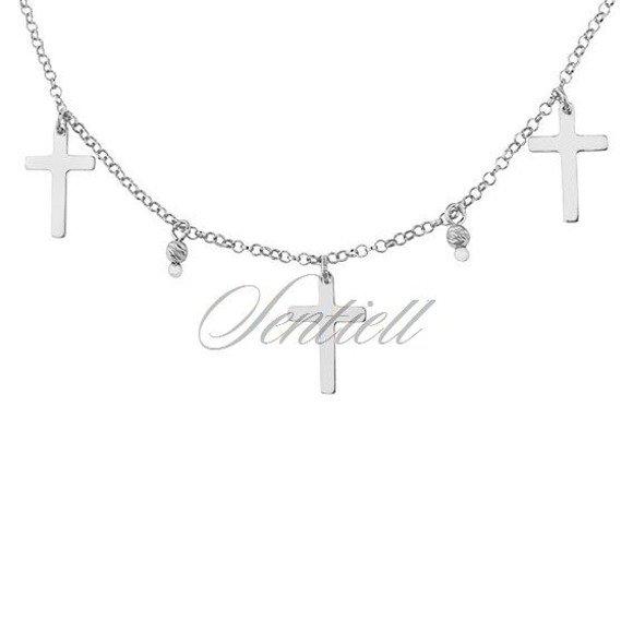 Srebrny naszyjnik pr.925 choker z krzyżykami