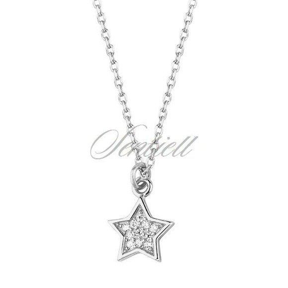 Srebrny naszyjnik pr.925 gwiazdka z cyrkoniami