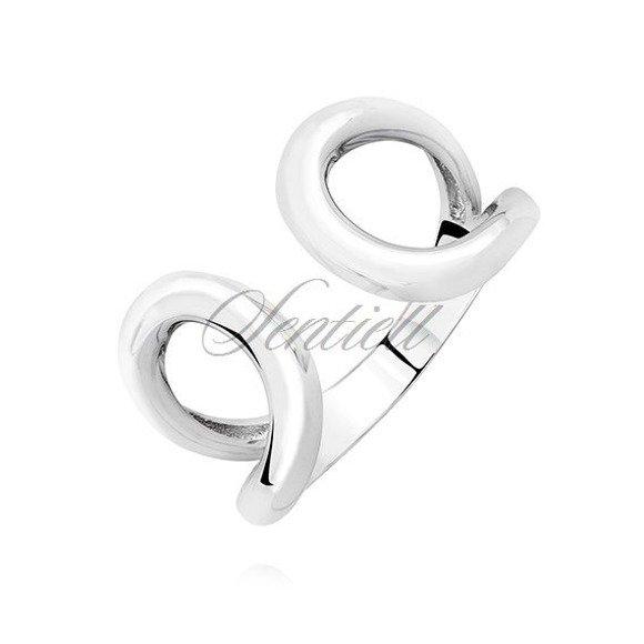 Srebrny otwarty półokrągły pierścionek pr.925