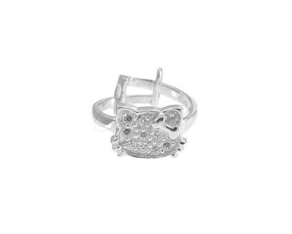 Srebrny pierścionek pr.925 Cyrkonia biała  - Regulowany rozmiar