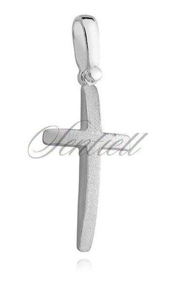Srebrny (pr.925) krzyżyk wypukły