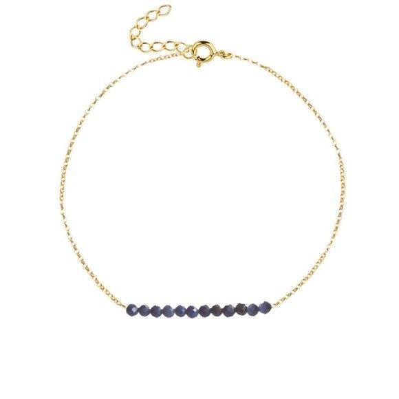 WRZESIEŃ - bransoletka pozłacana z szafirem