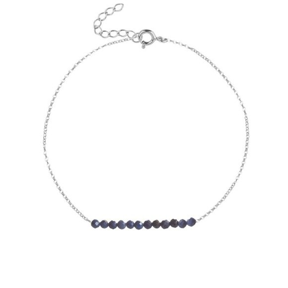 WRZESIEŃ - bransoletka srebrna z szafirem